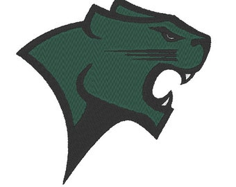 Chicago State Cougars Embroidery Design.  3 Hoop Sizes