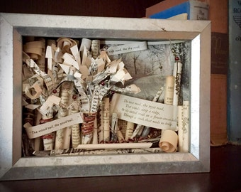Poetry Art Shadow Box, Nature Lover Shadow Box