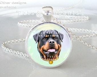 Rottweiler Photo Pendant, Dog Photo Jewelry, Rottweiler Photo Necklace