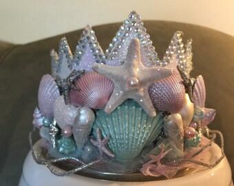 Mermaid Crown, Birthday Crown, Sea Queen Crown, Mermaid Princess Crown, Princess Crown, Mermaid Birthday, Tiara, Adult Mermaid Crown