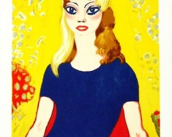 Kees van Dongen Original Lithographic Poster Brigitte Bardot