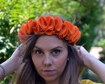 Crown of flowers orange