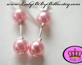 Pink Gravity Lady B By Billie Earrings Stud and Dangle Versions Available