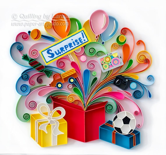 Quilling Wall Art Design : Quilling wall art paper surprise