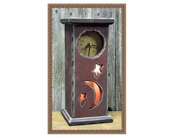 Primitive Moon & Stars Clock/Nightlight