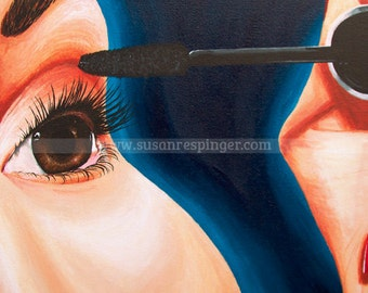 French Girl Eye (Tetraptch) limited edition print of acrylic on canvas painting