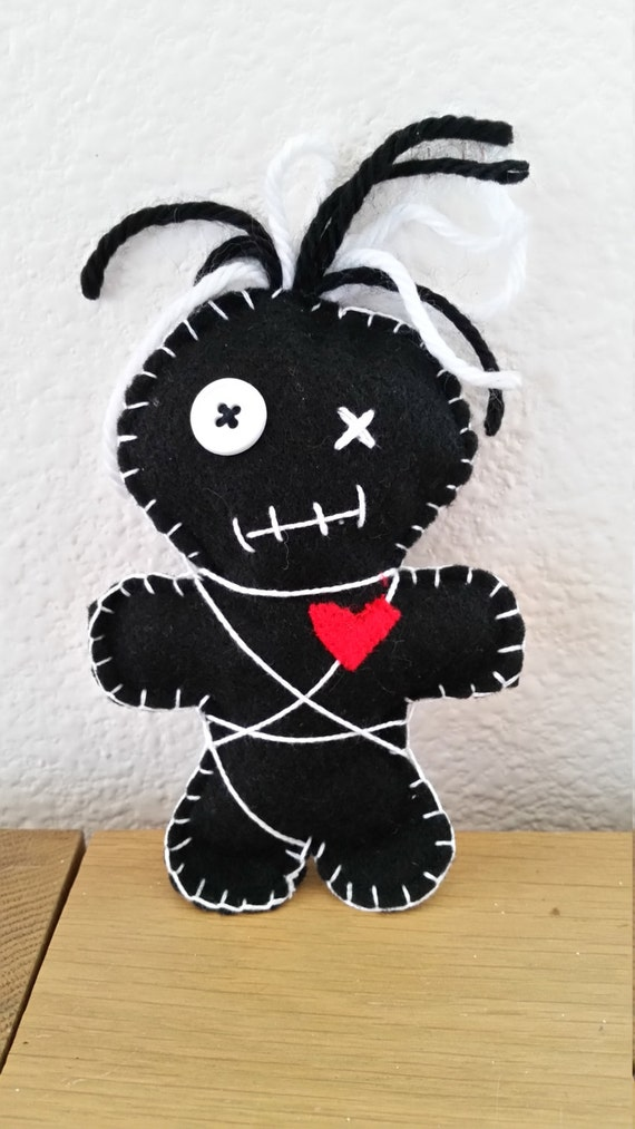 Items similar to Black Voodoo Doll on Etsy