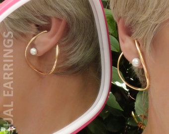 gold filled unpierced earrings non pierced ear cuff earrings for non pierced and pierced ears by unusualearrings 2484