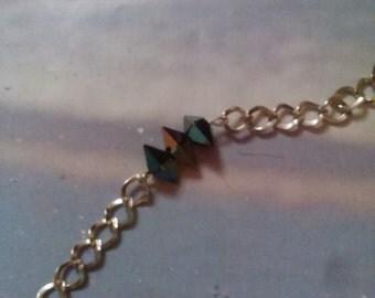 Swarovski Double Spikes Bracelet on Silver Chain