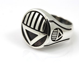 black Lantern ring,Ring made from Sterling Silver