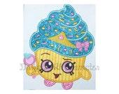 "Cupcake applique machine embroidery design- 3 sizes 4x4"", 5x7"", 6x10"""