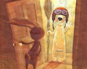 Hide and seek - original ILLUSTRATION-