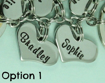 Additional Stainless Steel Heart Charm To Add On To Bo Belles Key Chain