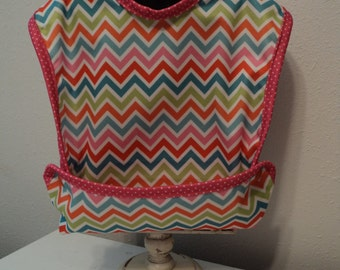 Girls Snap Pocket Bib