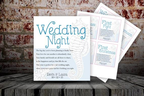 ... Labels/Bridal Shower Wine Labels/Wedding Gift/Wine Poems/Beach Wedding