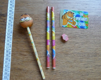 SALE! Cute Vintage set of Stationery Items  - Garfield - Carinissimo Set di Cancelleria Vintage Vintage
