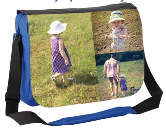 Personalized messenger bag, Photo messenger bag, personalised photo bag, custom printed bag, back to school