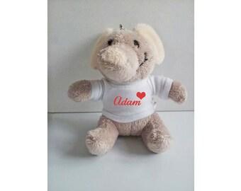 Personalised Elephant keyring, Animal keyring, Soft Toy Keyring