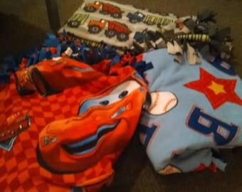 Soft boys fleece blankets. Soft and cuddly.