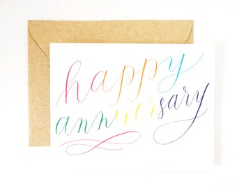 Happy Anniversary rainbow card