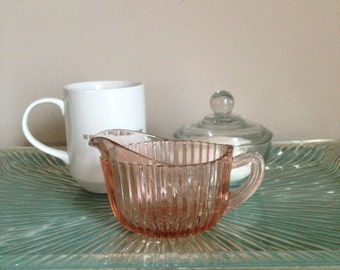 Pink Glass Creamer
