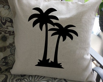 "Palm Tree Pillow Cover, 20x20, 100% Cotton!  Perfect for your ""summer"" place!"