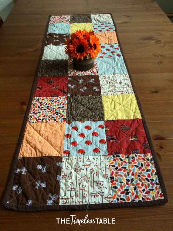 Thanksgiving Quilted Table Runner Patterns : Autumn Table Runner-Quilted Table Runner-Thanksgiving Table