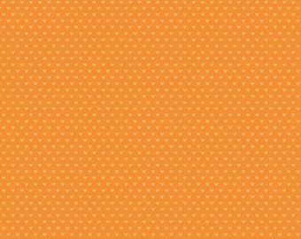 SALE 6.99 YARD - Riley Blake Designs Snapshots Orange Hearts by Bella Blvd -  Quilter Blenders, Clearance Fabric