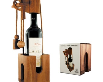 Wood Puzzle for Wine Bottles