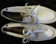 Ted Baker Trainers/white/boy/men/gent/lace up/upper leather/rubber sole/UK 8/EU 42