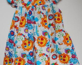 Sunshine and Caterpillar Baby Dress