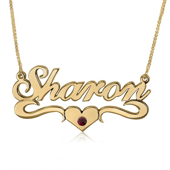 what stores sell name necklaces
