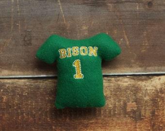 NDSU Bison Jersey Stuffed Squeaker Dog Toy