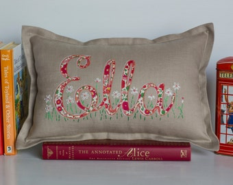 Ella Liberty lawn personalised pillow