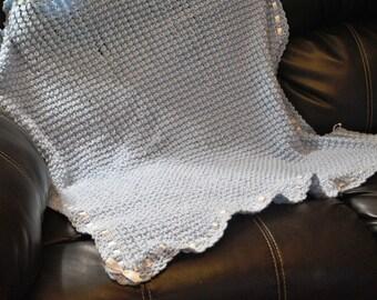 Crochet Puff Baby Blanket