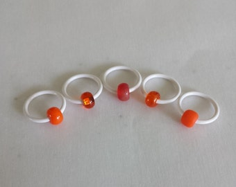 Frosted Pumpkin - Non Snag Stitch Markers