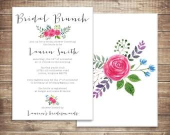 Floral Bridal Brunch Shower Invitation - Printable File