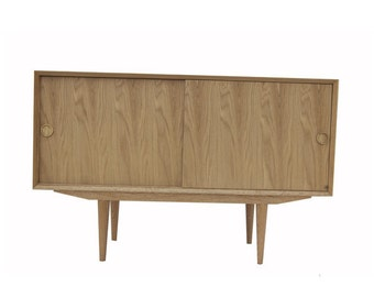 Solid Oak Media Console