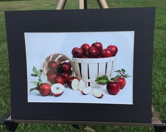 "Matted Photograph Print ""Apples"" 8x10 Print in 11x14 Mat"
