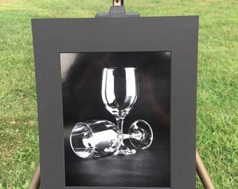 """Matted Photograph Print """"Glasses"""" 8x10 Print in 11x14 Mat"""