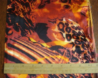 100% Silk Charmeuse Prints - Flamin' Orange