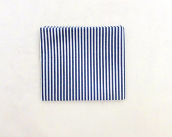 1 Fat Quarter, Blue and White Stripe Fabric 261