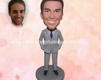 Groomsmen Gift – Custom Figurine or Bobblehead dolls