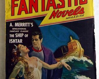 Fantastic Novels Magazine April 1948 - Pulp Sci-Fi Magazine - Ship of Ishtar - Vintage Sci-Fi