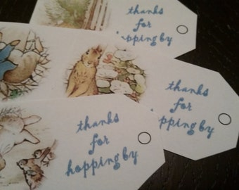 Peter Rabbit- Favor Tags- Thanks for Hopping By