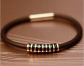 Stellar Bracelet / Anodized Aluminium / Silicon / Rubber / PVC / Lightweight / Blue / Gold / Black / Magnetic