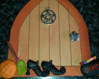 Fairy door Halloween 2, fairy door, hobbit door, elf door, halloween, middle earth, pixie door, gnome door, witch, whimsy door, magic door