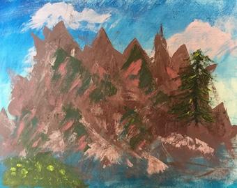 Original Acrylic mountains