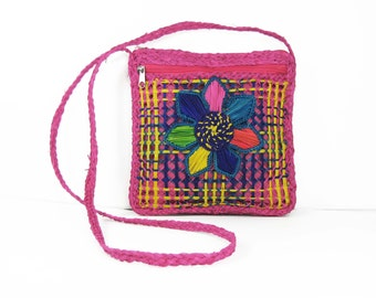 Handwoven Small Colorful Messenger Bag / Cross Body Shoulder Bag From Colombia