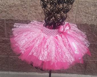 Elegant princess lace tutu skirt, birthday girl skirt
